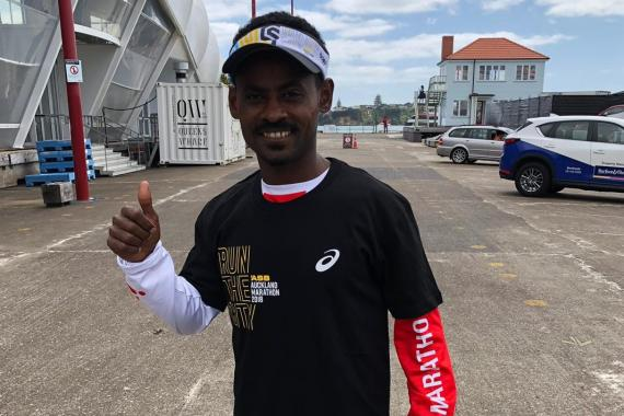 ERITREAN REFUGEE RUNNING TO NEW LIFE LINES UP AS FAVOURITE